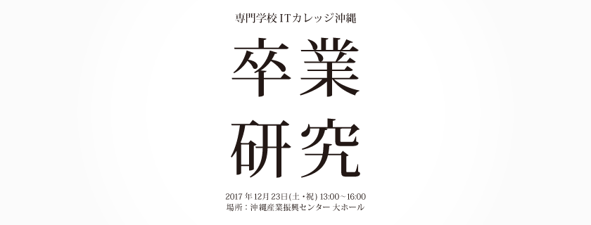 12月23日 第15回 卒業研究発表会