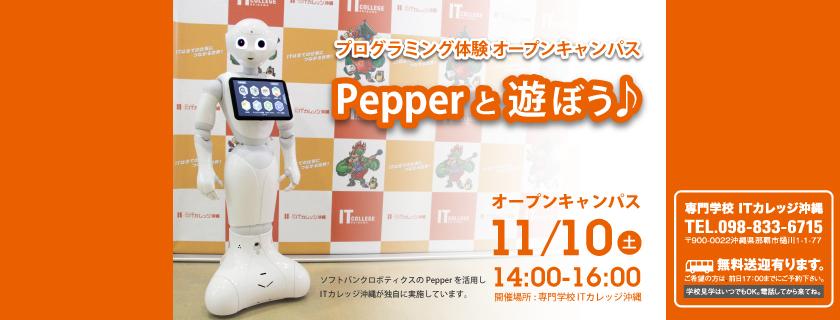 プログラミング体験 「Pepper と 遊ぼう♪」